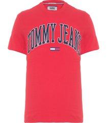 camiseta masculina collegiate logo - vermelho
