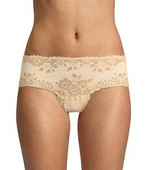 cosabella women's italia seamless lace hotpants - ivory - size m/l
