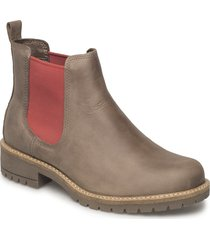 elaine shoes boots ankle boots ankle boots flat heel brun ecco