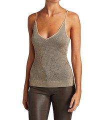 l'agence women's hayek ribbed cami tank - taupe - size l