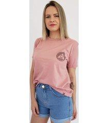 t-shirt aero jeans rosa - rosa/ros㪠- feminino - algodã£o - dafiti