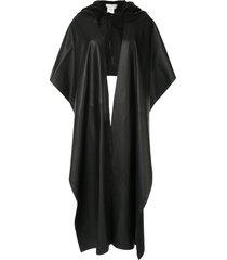 litkovskaya huska hooded cape - black