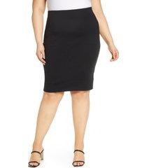 spanx(r) spanx ponte pencil skirt, size 3 x in classic black at nordstrom