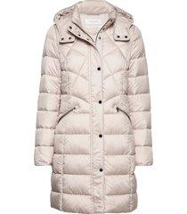 outdoor jacket no wo gevoerde lange jas crème gerry weber edition