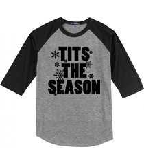 tits the season funny sexual christmas shirt mens raglan t
