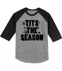 tits the season funny sexual christmas shirt mens raglan t