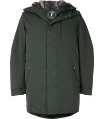 save the duck stone synthetic down and fur rain parka - green
