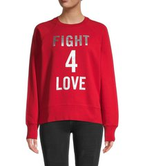 zadig & voltaire women's graphic cotton sweatshirt - red - size xs