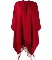 holland & holland oversized poncho-style cape coat - red