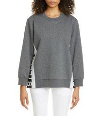 women's stella mccartney logo tape insert sweatshirt