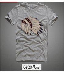 verano hombres camiseta ropa de fitness de manga corta - gris claro