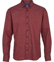kronstadt heren overhemd dean nepps bordeaux flanel rood