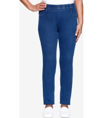 alfred dunner petite lazy daisy knit denim jegging