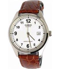 reloj casio mtp_1175e_7b marrón cuero
