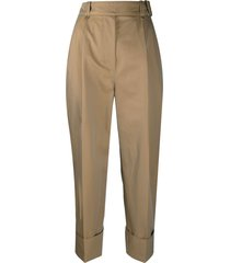 acne studios belted turn up cuff trousers - neutrals