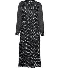 kadotta amber dress knälång klänning svart kaffe