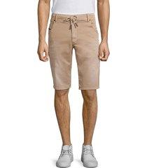 diesel men's kroo distressed drawstring shorts - tan - size 26