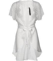 kimono cap sleeve morgonrock vit hunkemöller