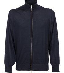 brunello cucinelli cashmere and silk lightweight cardigan with zipper