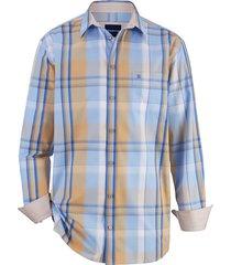 overhemd babista blauw::beige