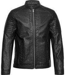 faux leather läderjacka skinnjacka svart tom tailor