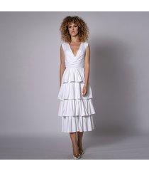biała sukienka - carmelita