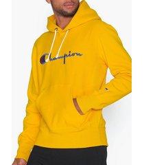 champion reverse weave hooded sweatshirt tröjor golden rod