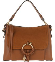 see by chloé designer handbags, brown small joan bag