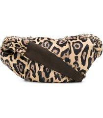 simonetta ravizza furrissima leopard-print shoulder bag - neutrals
