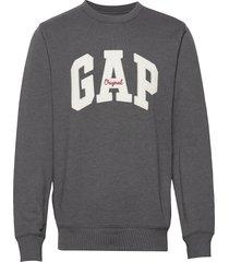 gap logo fleece crewneck sweatshirt sweat-shirt tröja grå gap