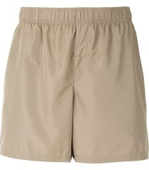 osklen elasticated swim shorts - neutrals