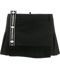 dsquared2 pleated mini-skirt - black