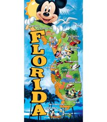 oversized licensed disney world florida map souvenir character beach towels