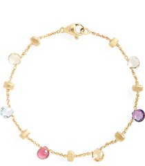 marco bicego 'paradise' single strand bracelet, size 7 in yellow gold/multi at nordstrom