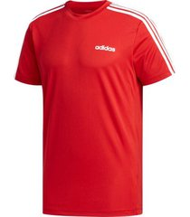 camiseta masculina adidas designed 2 move 3-stripes