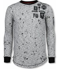 sweater local fanatic longfit embroidery - sweater patches - guerrilla -