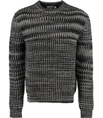 msgm ribbed crew-neck sweater