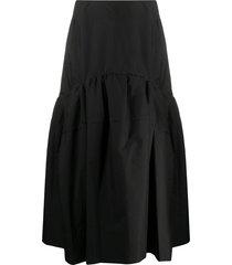 3.1 phillip lim shirred midi skirt - black