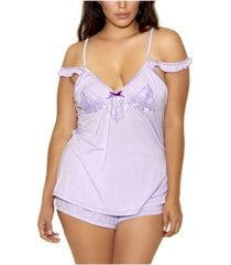 icollection plus size alicia cami & short set, online only