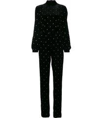 raquel diniz decorative buttons jumpsuit - black