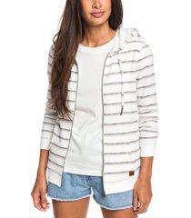 roxy juniors' trippin stripes striped hoodie