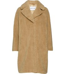 camille cocoon coat outerwear faux fur beige stand studio