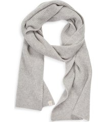 women's rag & bone ace cashmere scarf, size one size - grey
