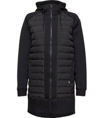 fære l hoodie gevoerde lange jas zwart kari traa