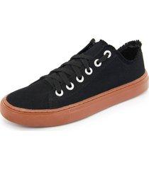 tênis sapatênis casual mavi preto
