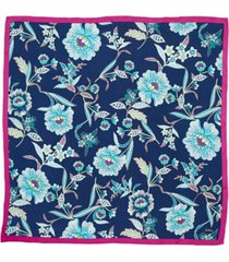 echo tropical floral silk square scarf
