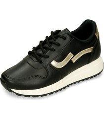 zapatos casuales negro bata igre mujer