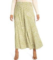 plus size women's eloquii seam detail a-line skirt, size 16w - green