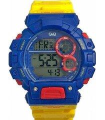 reloj amarillo q&q m144j801y - superbrands