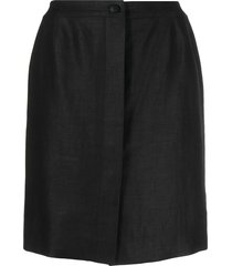chanel pre-owned high waist thigh-length skirt - black